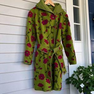 Mycra PAC Coat Reversible Wool Floral Rain Belted